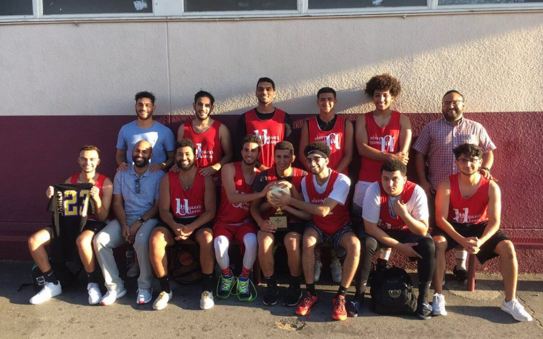 St Mina's basketball team and coaches Win the coptic league championship.